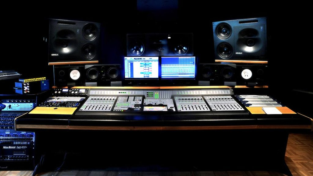 studio di registrazione e sala regia