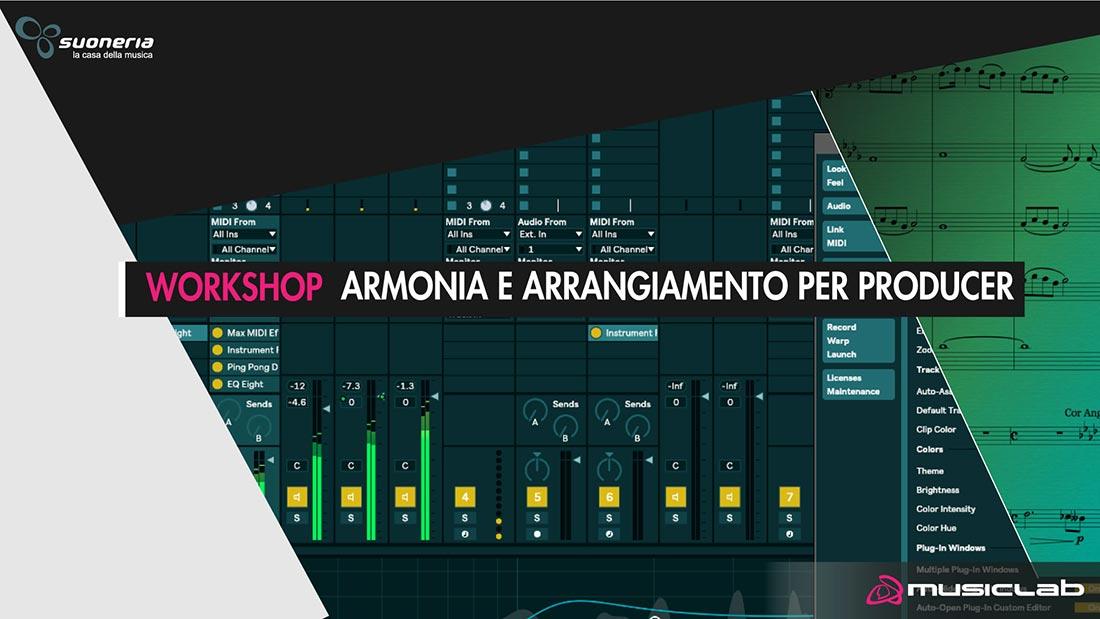 workshop di armonia e arrangiamento per producer al musicalab