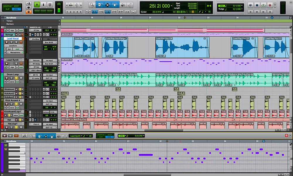 avid pro tools daw professionale per produttori musicali particolarmente buona nelle fasi di mix mastering ed editing