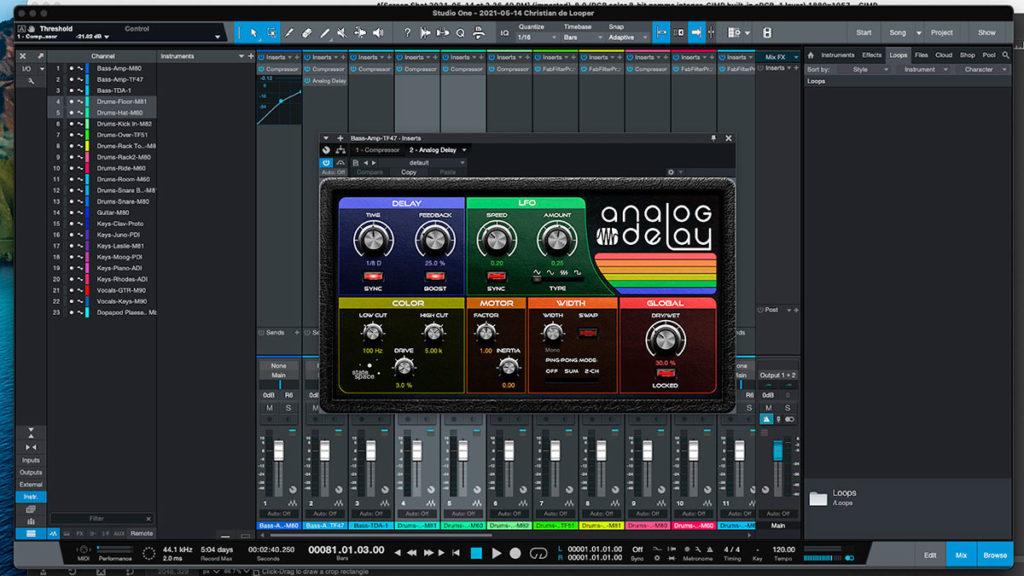 presonus studio one programma daw per la produzione di musica elettronica